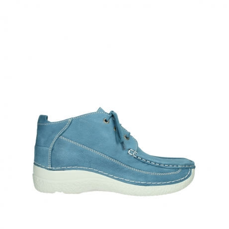 wolky lace up shoes 06200 roll moc 11856 baltic blue nubuck