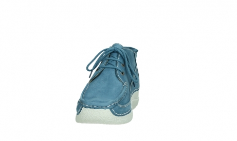 wolky lace up shoes 06200 roll moc 11856 baltic blue nubuck_8