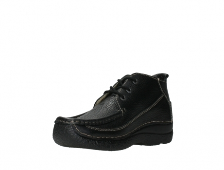 wolky lace up shoes 06200 roll moc 70000 black leather_10