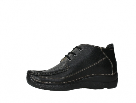wolky lace up shoes 06200 roll moc 70000 black leather_12