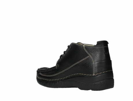wolky lace up shoes 06200 roll moc 70000 black leather_16