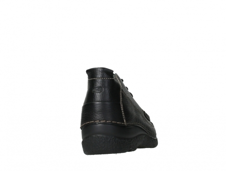 wolky lace up shoes 06200 roll moc 70000 black leather_20