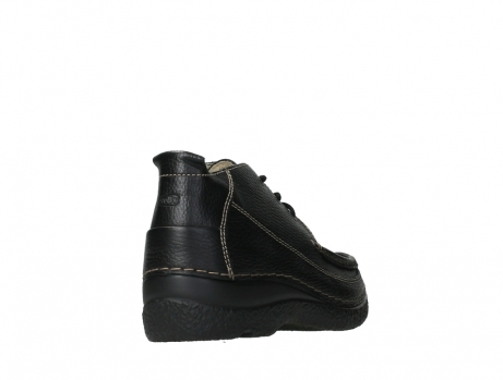 wolky lace up shoes 06200 roll moc 70000 black leather_21