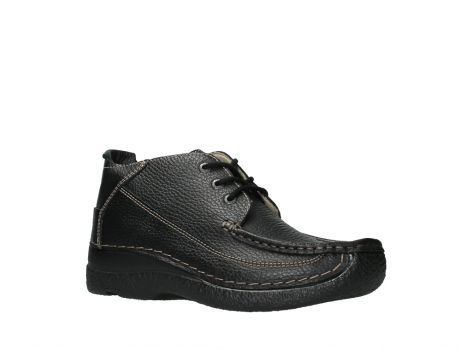 wolky lace up shoes 06200 roll moc 70000 black leather_3