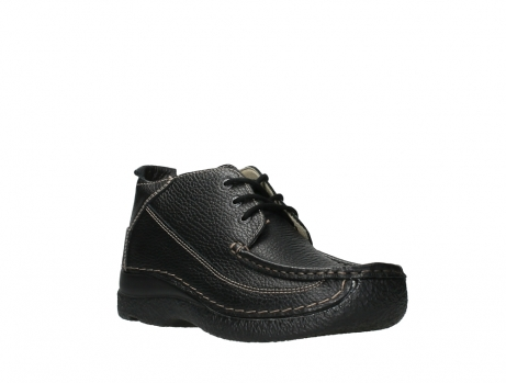 wolky lace up shoes 06200 roll moc 70000 black leather_4