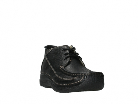 wolky lace up shoes 06200 roll moc 70000 black leather_5