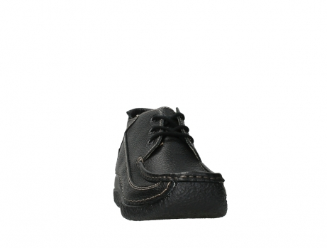wolky lace up shoes 06200 roll moc 70000 black leather_6