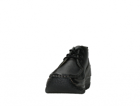 wolky lace up shoes 06200 roll moc 70000 black leather_8
