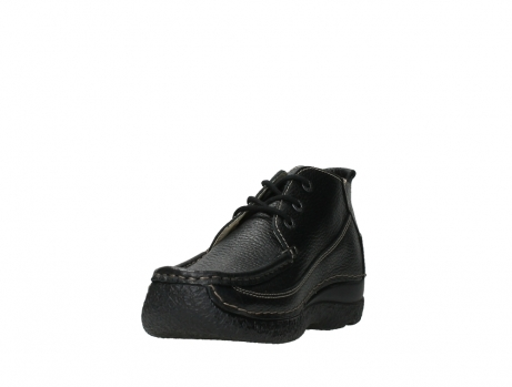 wolky lace up shoes 06200 roll moc 70000 black leather_9