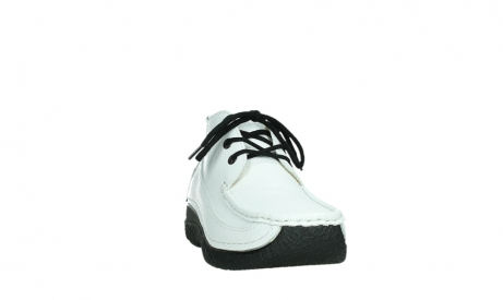 wolky lace up shoes 06200 roll moc 70100 white leather_6