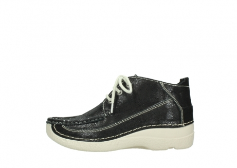 wolky lace up shoes 06200 roll moc 90070 black dots nubuck_1