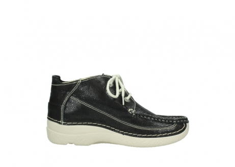 wolky lace up shoes 06200 roll moc 90070 black dots nubuck_13