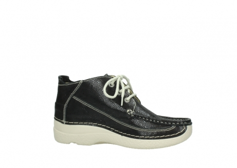 wolky lace up shoes 06200 roll moc 90070 black dots nubuck_14