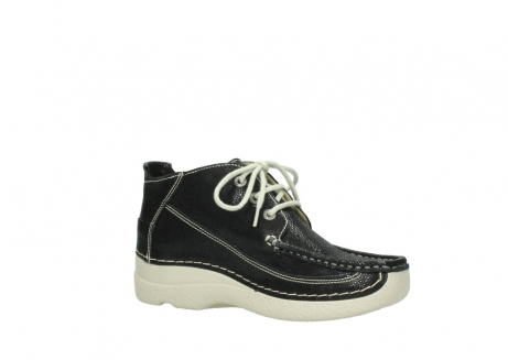wolky lace up shoes 06200 roll moc 90070 black dots nubuck_15