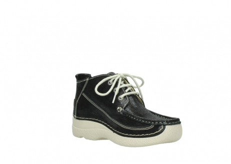 wolky lace up shoes 06200 roll moc 90070 black dots nubuck_16