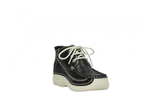 wolky lace up shoes 06200 roll moc 90070 black dots nubuck_17