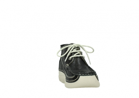 wolky lace up shoes 06200 roll moc 90070 black dots nubuck_18