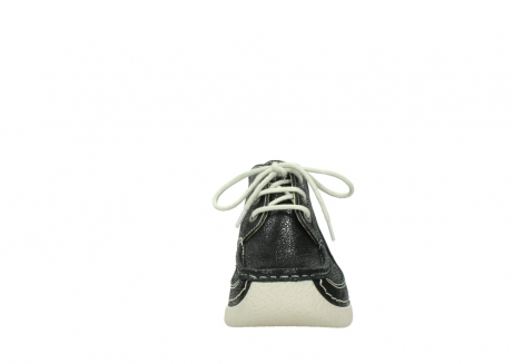 wolky lace up shoes 06200 roll moc 90070 black dots nubuck_19