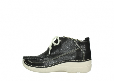 wolky lace up shoes 06200 roll moc 90070 black dots nubuck_2