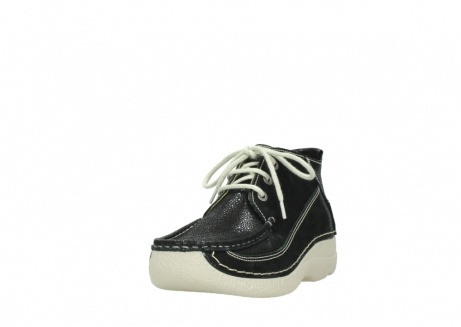 wolky lace up shoes 06200 roll moc 90070 black dots nubuck_21