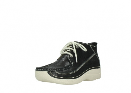 wolky lace up shoes 06200 roll moc 90070 black dots nubuck_22