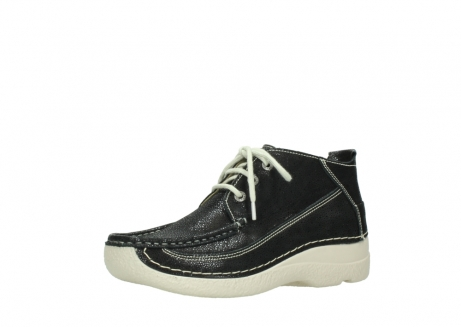 wolky lace up shoes 06200 roll moc 90070 black dots nubuck_23
