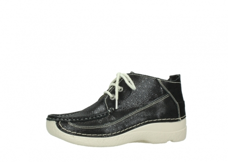 wolky lace up shoes 06200 roll moc 90070 black dots nubuck_24
