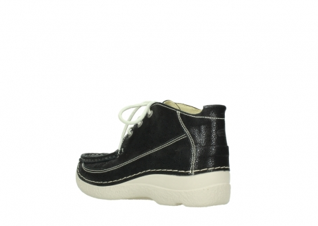 wolky lace up shoes 06200 roll moc 90070 black dots nubuck_4