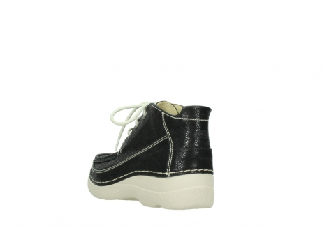 wolky lace up shoes 06200 roll moc 90070 black dots nubuck_5