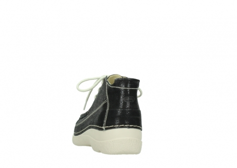 wolky lace up shoes 06200 roll moc 90070 black dots nubuck_6