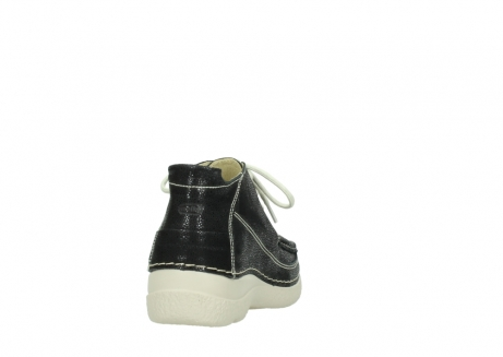wolky lace up shoes 06200 roll moc 90070 black dots nubuck_8