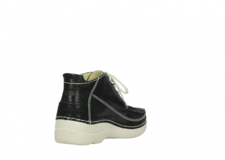 wolky lace up shoes 06200 roll moc 90070 black dots nubuck_9