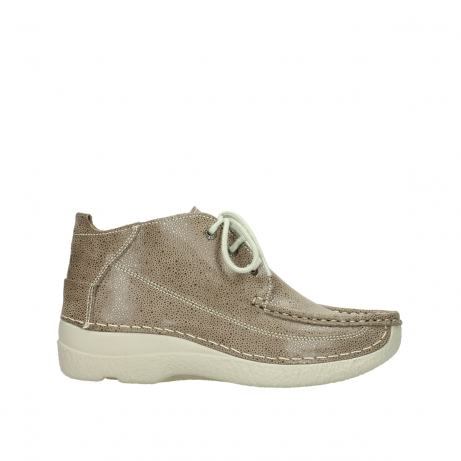 wolky lace up shoes 06200 roll moc 90150 taupe dots nubuck