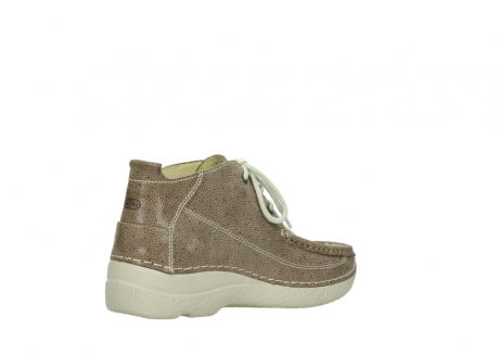 wolky lace up shoes 06200 roll moc 90150 taupe dots nubuck_10