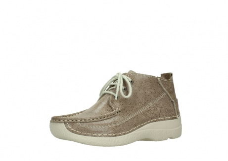 wolky lace up shoes 06200 roll moc 90150 taupe dots nubuck_23
