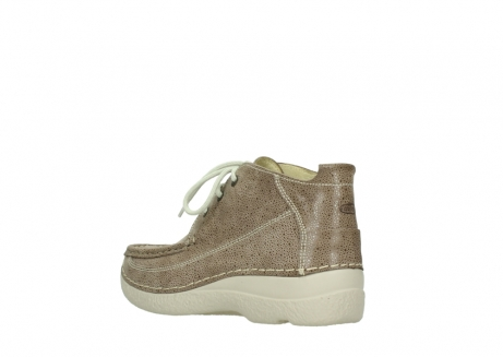 wolky lace up shoes 06200 roll moc 90150 taupe dots nubuck_4