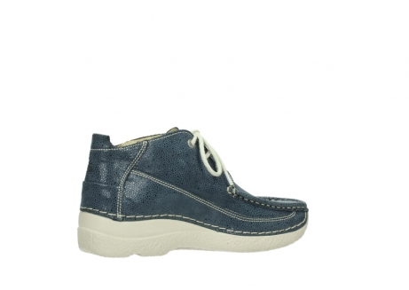 wolky veterschoenen 06200 roll moc 90820 denim blauw dots nubuck_11