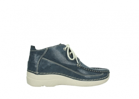 wolky veterschoenen 06200 roll moc 90820 denim blauw dots nubuck_12