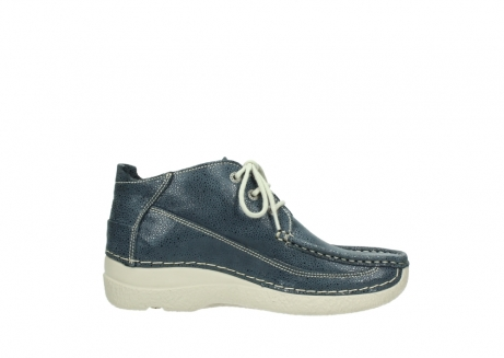 wolky veterschoenen 06200 roll moc 90820 denim blauw dots nubuck_13