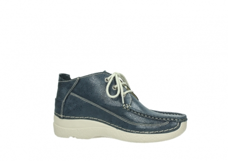 wolky veterschoenen 06200 roll moc 90820 denim blauw dots nubuck_14