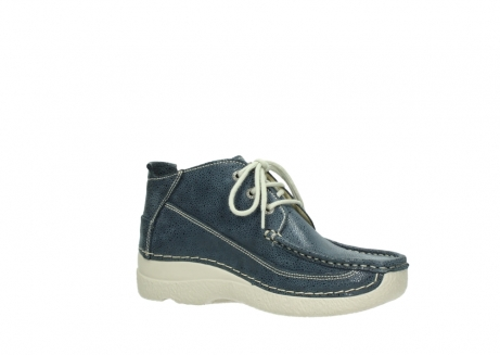 wolky veterschoenen 06200 roll moc 90820 denim blauw dots nubuck_15