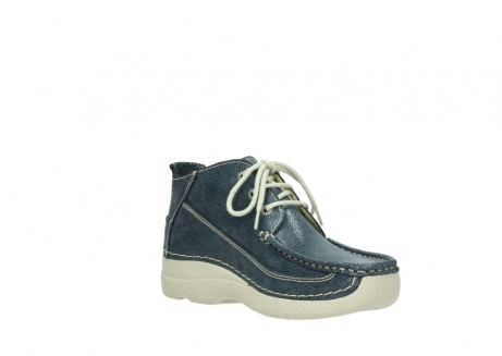 wolky veterschoenen 06200 roll moc 90820 denim blauw dots nubuck_16