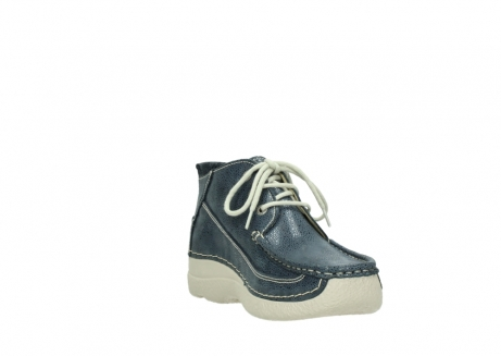 wolky veterschoenen 06200 roll moc 90820 denim blauw dots nubuck_17