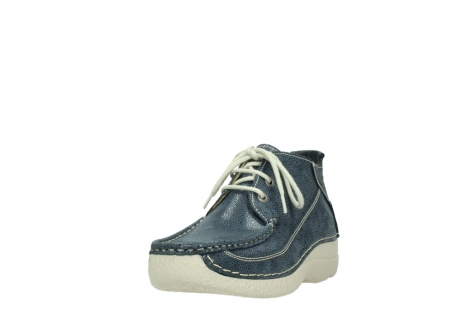 wolky veterschoenen 06200 roll moc 90820 denim blauw dots nubuck_21