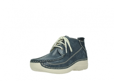 wolky veterschoenen 06200 roll moc 90820 denim blauw dots nubuck_22