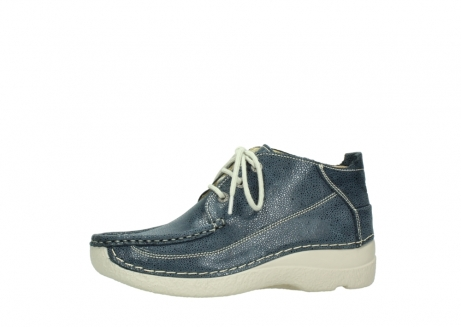 wolky veterschoenen 06200 roll moc 90820 denim blauw dots nubuck_24
