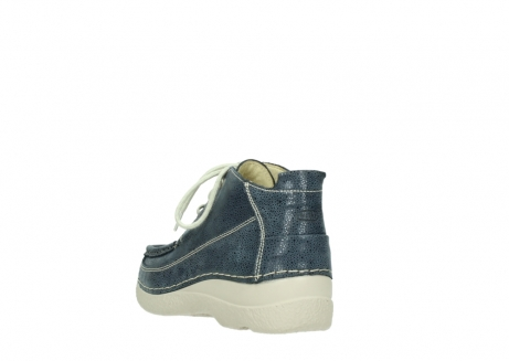 wolky veterschoenen 06200 roll moc 90820 denim blauw dots nubuck_5