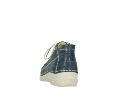wolky veterschoenen 06200 roll moc 90820 denim blauw dots nubuck_6