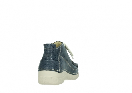 wolky veterschoenen 06200 roll moc 90820 denim blauw dots nubuck_8