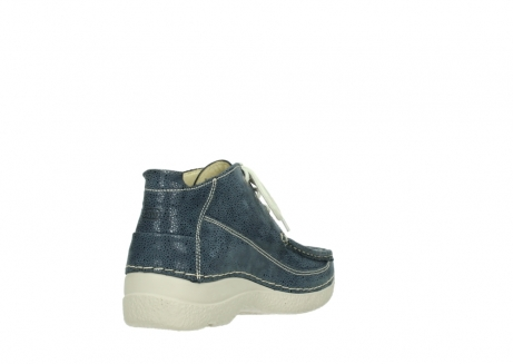wolky veterschoenen 06200 roll moc 90820 denim blauw dots nubuck_9